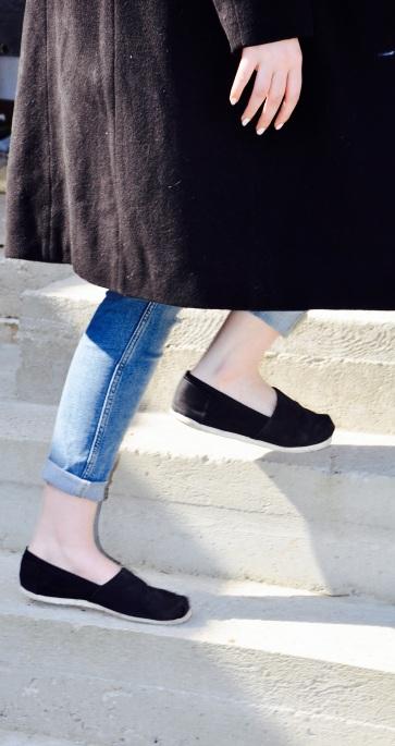 Slip-On Sneakers in Schwarz